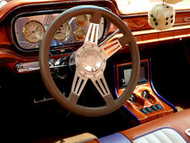 Inside A Hot Rod Car Stock Image