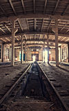 Inside an abandoned depot Stock Images