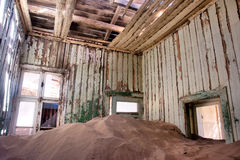 Inside the abandoned house in desert Stock Photo