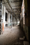 Inside abandoned power plant. Low light captures specially for creating abandonment atmosphere Stock Photography
