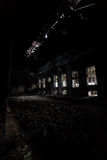 Inside abandoned power plant. Low light captures specially for creating abandonment atmosphere Stock Photos
