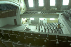 Inside abandoned theater Royalty Free Stock Images