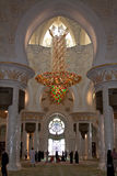 Inside Abu-Dhabi Grand Mosque Royalty Free Stock Images