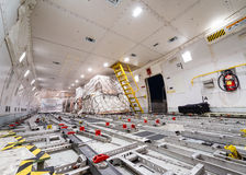 Inside air cargo freighter Stock Photography