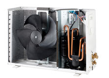 Cross section inside the air condensing unit isola Royalty Free Stock Photography