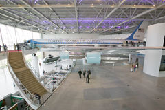 Inside the Air Force One Pavilion at the Ronald Reagan Presidential Library and Museum, Simi Valley, CA Royalty Free Stock Photos
