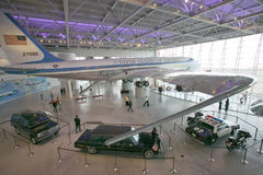 Inside the Air Force One Pavilion at the Ronald Reagan Presidential Library and Museum, Simi Valley, CA Stock Photos