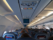 Inside aircraft Royalty Free Stock Images