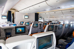 Inside the aircraft. Royalty Free Stock Photo