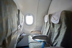 Inside an aircraft Stock Photos