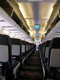 Inside airplane Stock Image