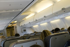 Inside an airplane Royalty Free Stock Photography