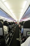 Inside Airplane Cabin Stock Photography