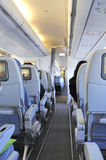 Inside an airplane Royalty Free Stock Photo