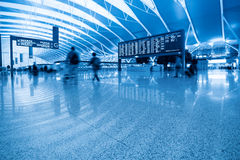 Inside the airport Royalty Free Stock Photo