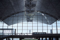 Inside an Airport. View from inside of Hong Kong International Airport Royalty Free Stock Photos