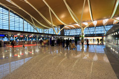 Inside the airport terminal Royalty Free Stock Image