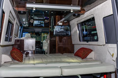 Inside of Airstream Classic car Stock Image