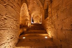 Inside of Ajloun Castle Royalty Free Stock Photography