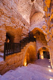 Inside of Ajloun Castle. The castle was built between 1184-85 CE by the nephew of Salah Eddin al-Ayyubi who waged a successful campaign to recover lands lost to Stock Photos