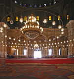 Inside the Alabaster-mosque at Cairo Royalty Free Stock Photos
