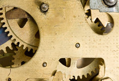Inside of alarm clock mechanism Stock Images