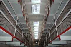 Inside Alcatraz Prison Stock Photos
