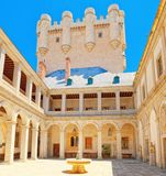 Inside Alcazar Segovia dosłownie, Segovia forteca jest cas Obraz Royalty Free