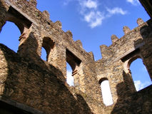 Inside Alem-Seghed Fasil's castle in Ethiopia Royalty Free Stock Photos