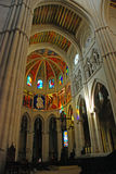 Inside the Almudena Cathedral in Madrid, Spain Stock Image
