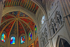 Inside the Almudena Cathedral in Madrid, Spain Royalty Free Stock Image