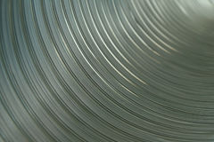 Inside an aluminium pipe Royalty Free Stock Photo