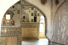 Inside Amber Fort in Jaipur Stock Photography
