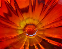 Inside Amberina Glass 3 Royalty Free Stock Image