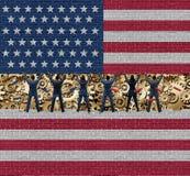 Inside Amerykańska gospodarka ilustracja wektor