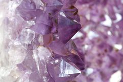 Inside an Amethyst Geode 1 royalty free stock photography