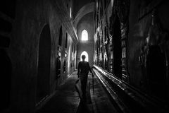 Inside Ananda temple, Bagan Royalty Free Stock Photography