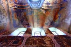 Inside the ancient Christian church Stock Photo