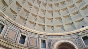 Inside Pantheon. Inside ancient Pantheon - rotunda with statues, paintings and other decoration in Rome, Italy stock video footage