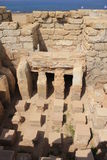 Inside of Ancient Roman Bath House royalty free stock image
