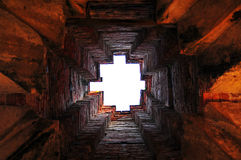 Inside ancient tower in Ayutthaya architect royalty free stock photos