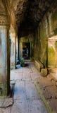 Inside of  Angkor Wat Stock Image