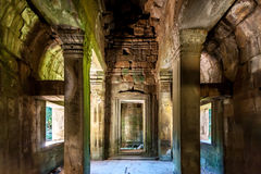 Inside Angkor Wat Stock Photos