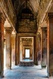 Inside Angkor Wat Royalty Free Stock Images