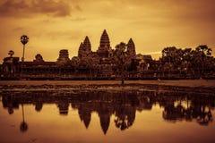 Inside Angkor Wat Stock Image
