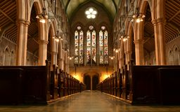 St.Mary Abbots church interior Stock Photography