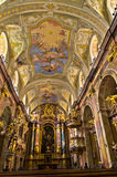 Inside Anna's kirche, beautiful small baroque church at Vienna downtown Royalty Free Stock Image