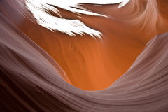 Inside Antelope Canyon in Arizona Stock Image