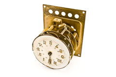 Inside of the antique vintage clock - mechanism Royalty Free Stock Photo