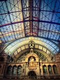 Inside of the Antwerp Central Trainstation Stock Images